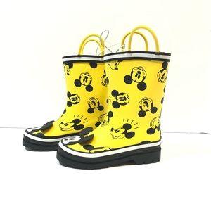 New Disney Mickey Mouse Kids Rain Boots Size 11